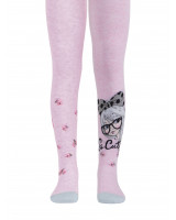 Хлопковые колготки TIP-TOP с люрексом 498 светло-розовый