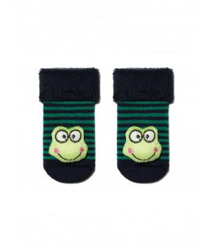 "Махровые носки SOF-TIKI с мордашками ""Лягушонок"""
