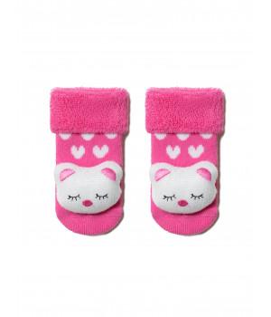 """Махровые носки SOF-TIKI с мордашками """"Котик"""""""