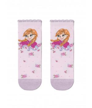Хлопковые носки с люрексом, стразами 19С-5СПМ ©Disney Frozen модель 429