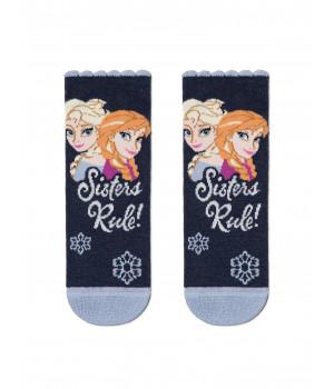 Хлопковые носки с люрексом, стразами 19С-5СПМ ©Disney Frozen модель 428