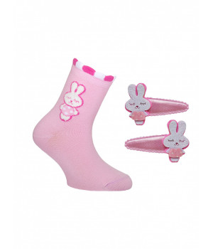 Детские носки из хлопка TIP-TOP (с заколками для волос)