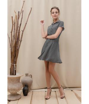 Платье LPL 884 black mini star